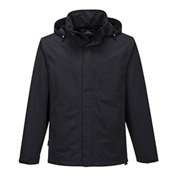 Large Black Mens Corporate Shell Jacket