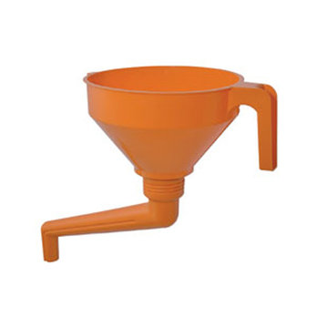 1.2L Polyethylene Funnel with Brass Filter and Removable Ang