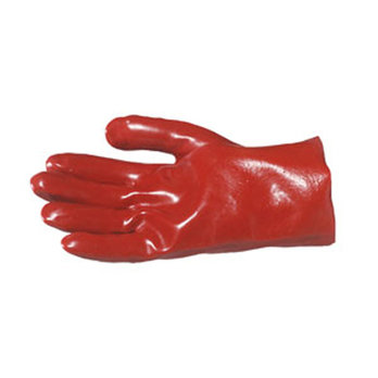 S10 Red PVC Gauntlets 11in Cuff